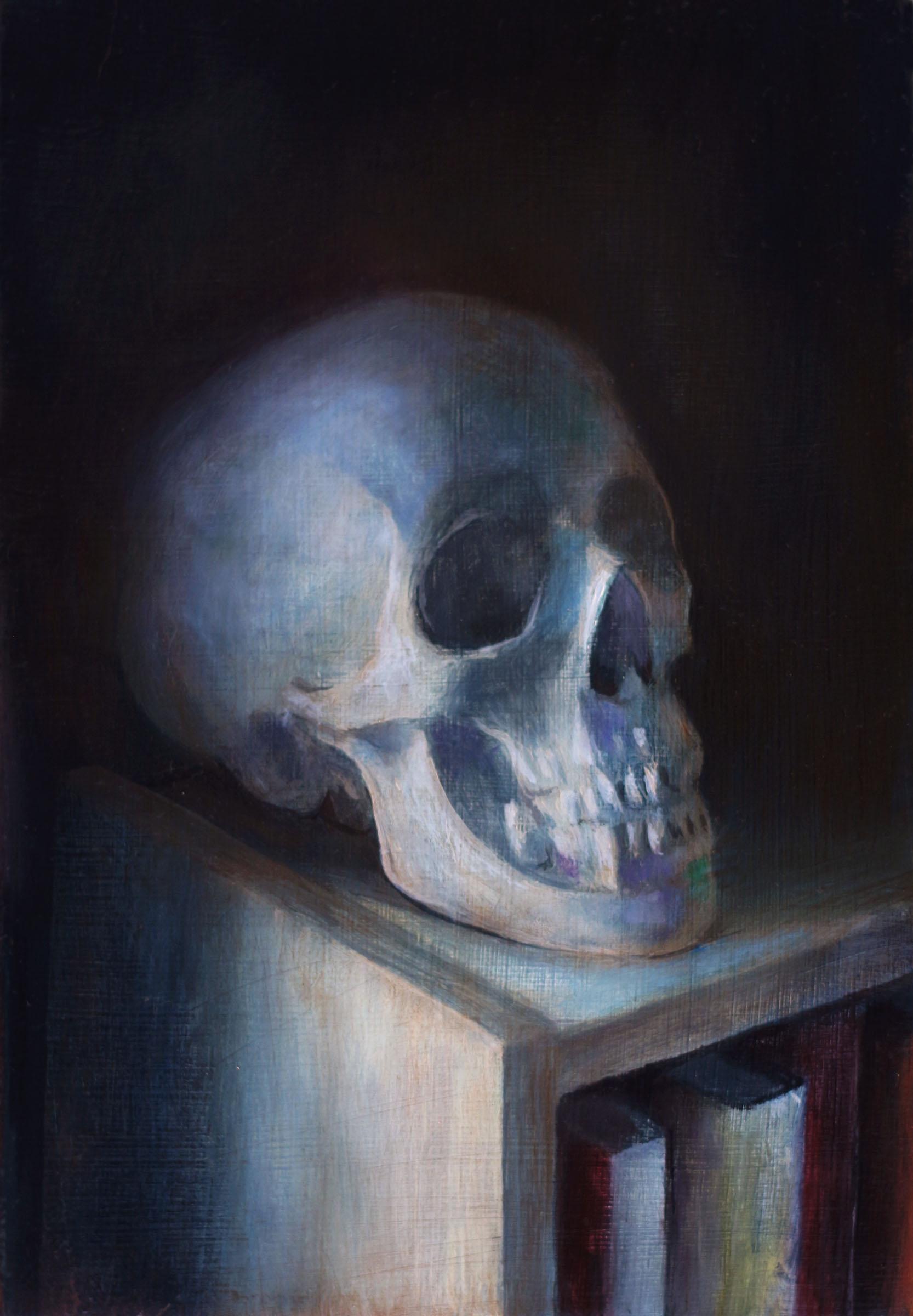 Skull   2017  Oil on linen  7 x 5 inches