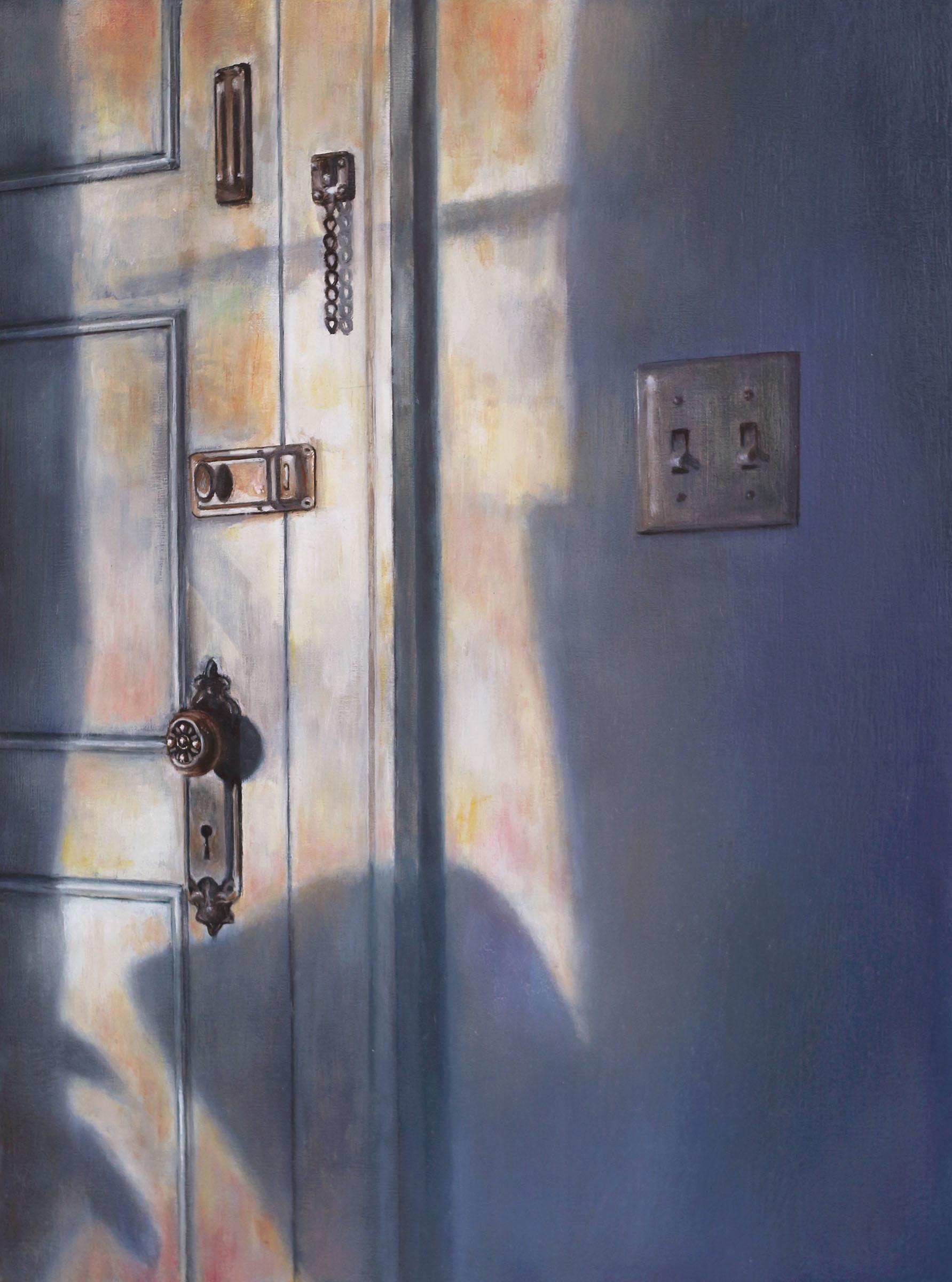 Sunlit Door   2017  Oil on linen  16 x 12 inches