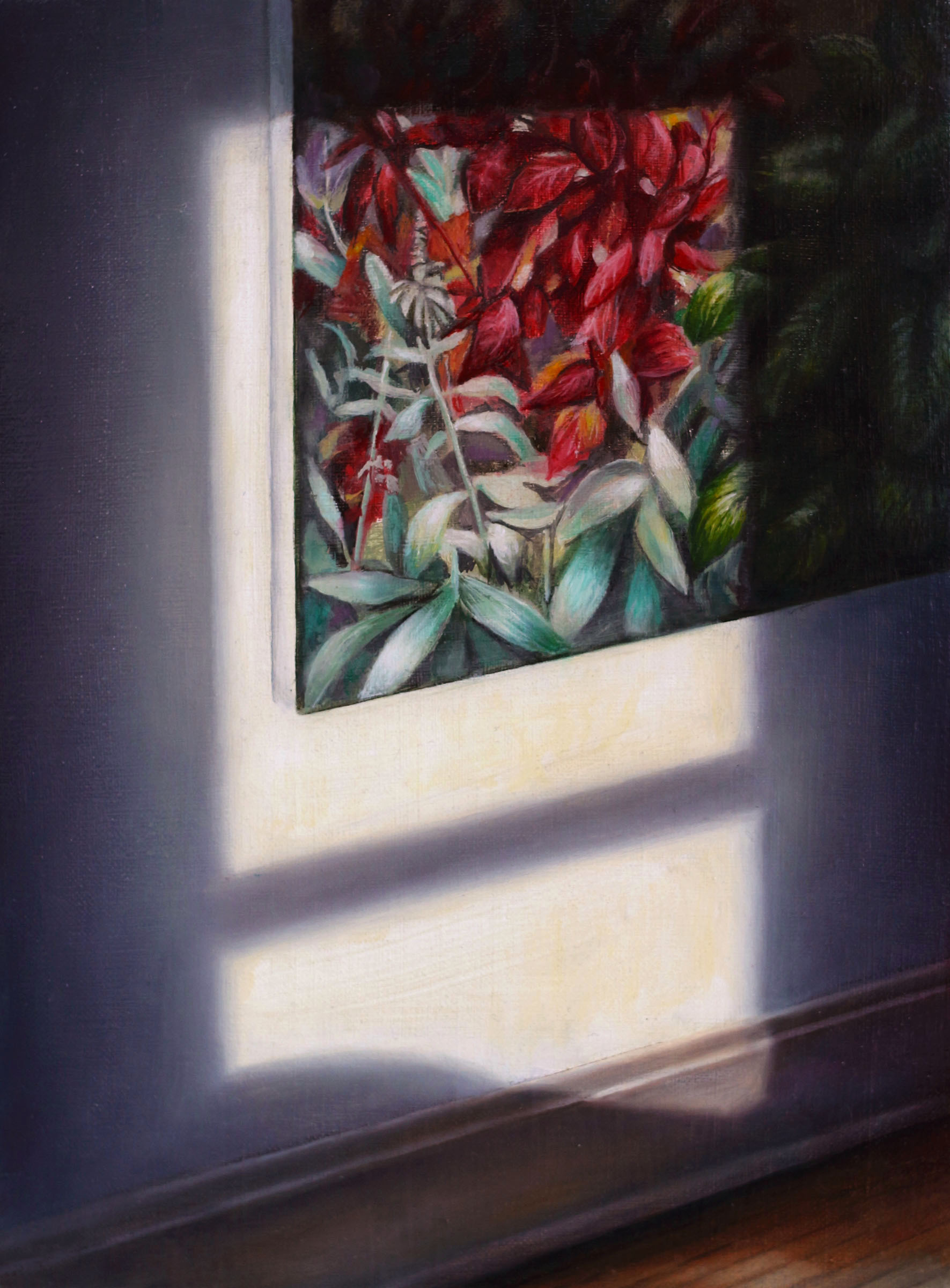Window Light    (on James L. Stephens painting)  2017  Oil on linen  12 x 9 inches