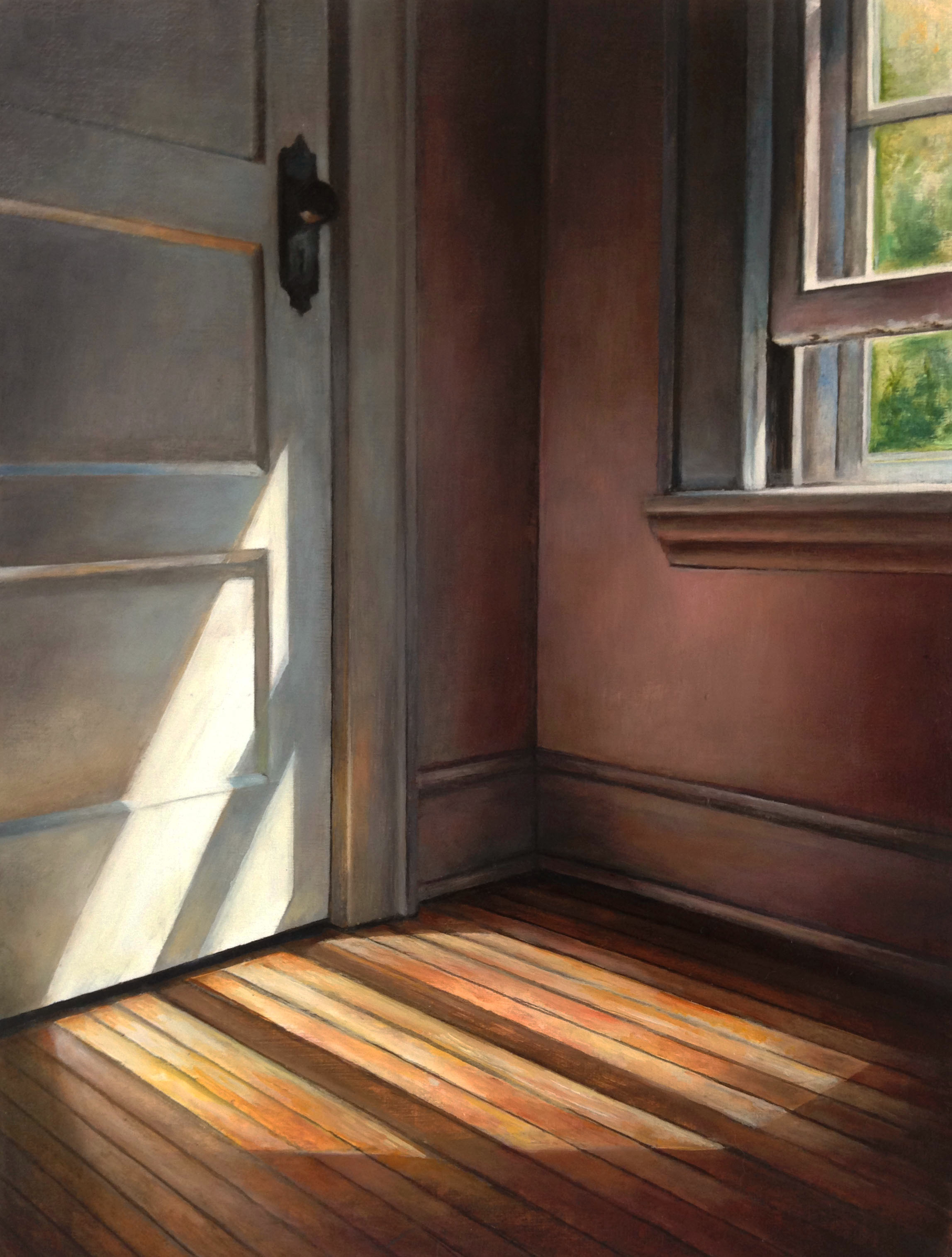 Corner Light   2017  Oil on linen  12 x 9 inches