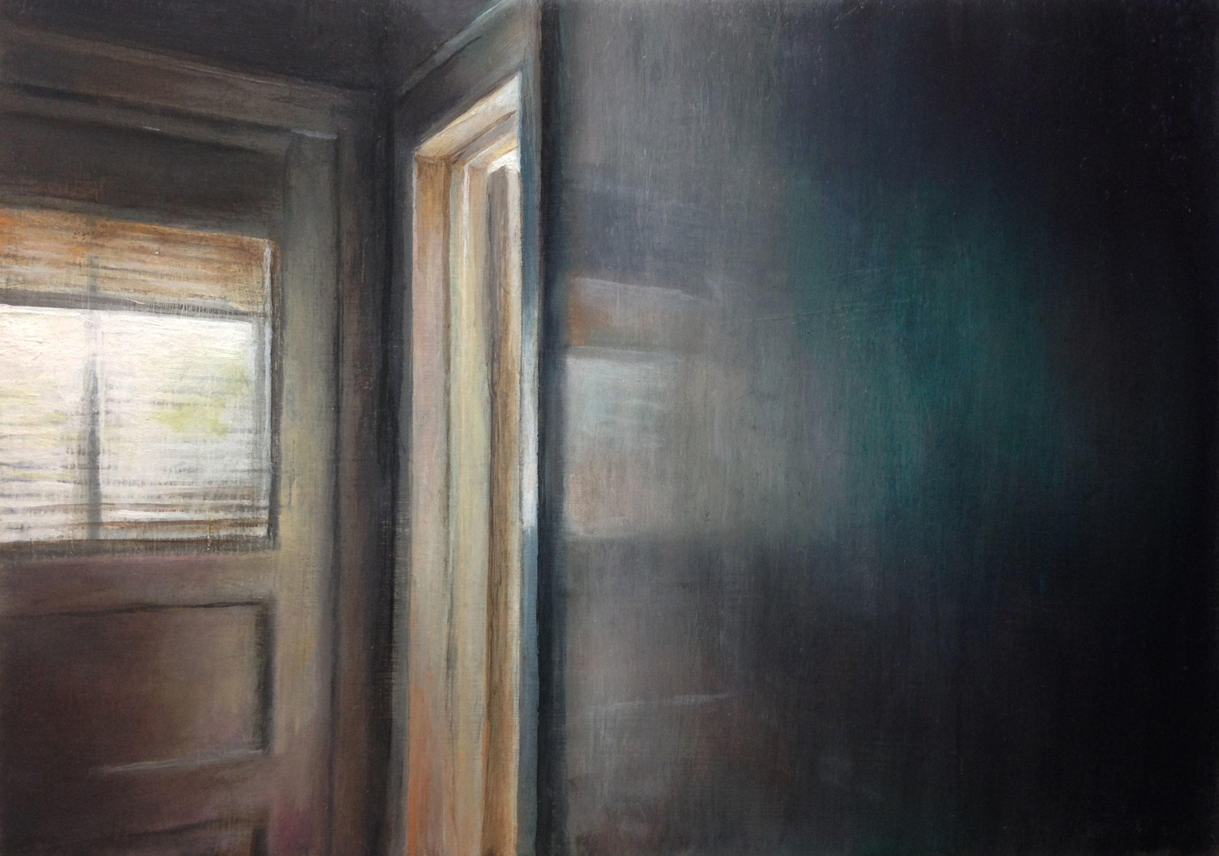 Kitchen Door   2017  Oil on linen  5 x 7 inches