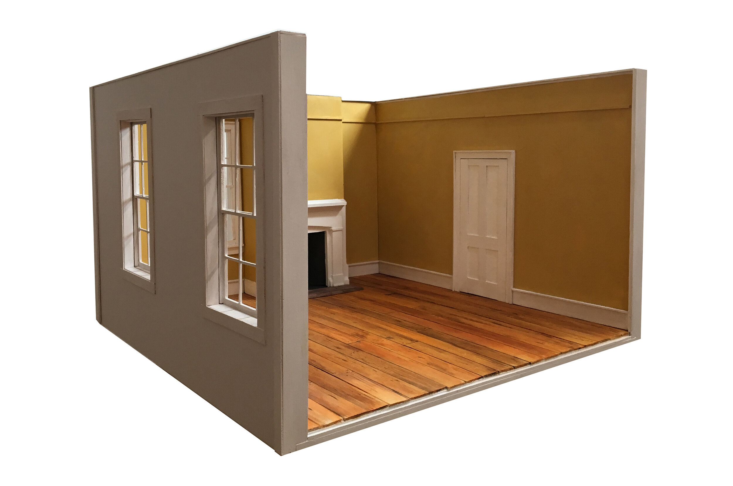 Model of Edward Hopper's Boyhood Bedroom in Nyack, NY   2019  Balsa Wood, Foam Core  15 x 23 x 23 inches