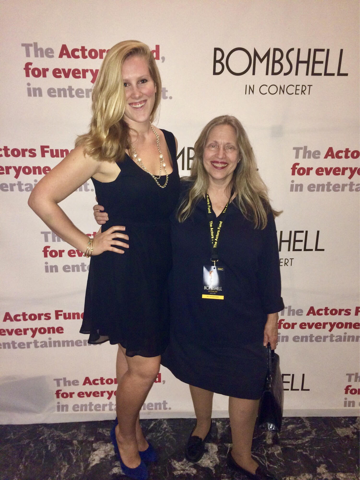 The first time I ever went to the Minskoff Theater I was backstage dressing the Bombshell benefit concert with my friend Barb. She is an Originol Wicked dresser. June 2015.
