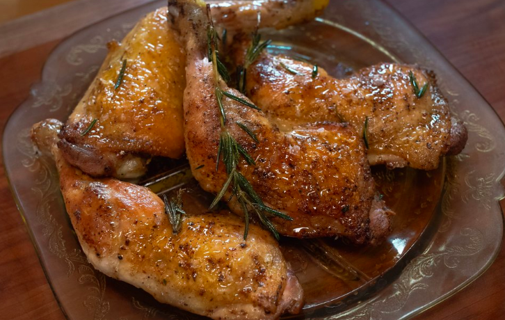 Roasted Chicken Quarters with Pan Sauce