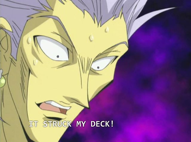 When something strikes you in the deck #yugioh #anime