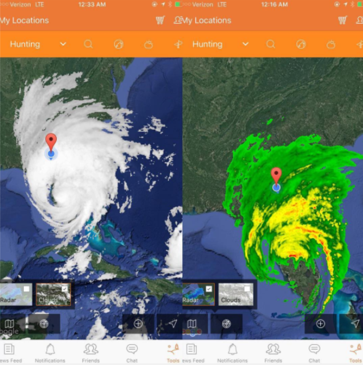YUDU APP Tool Set During Hurricane Irma -