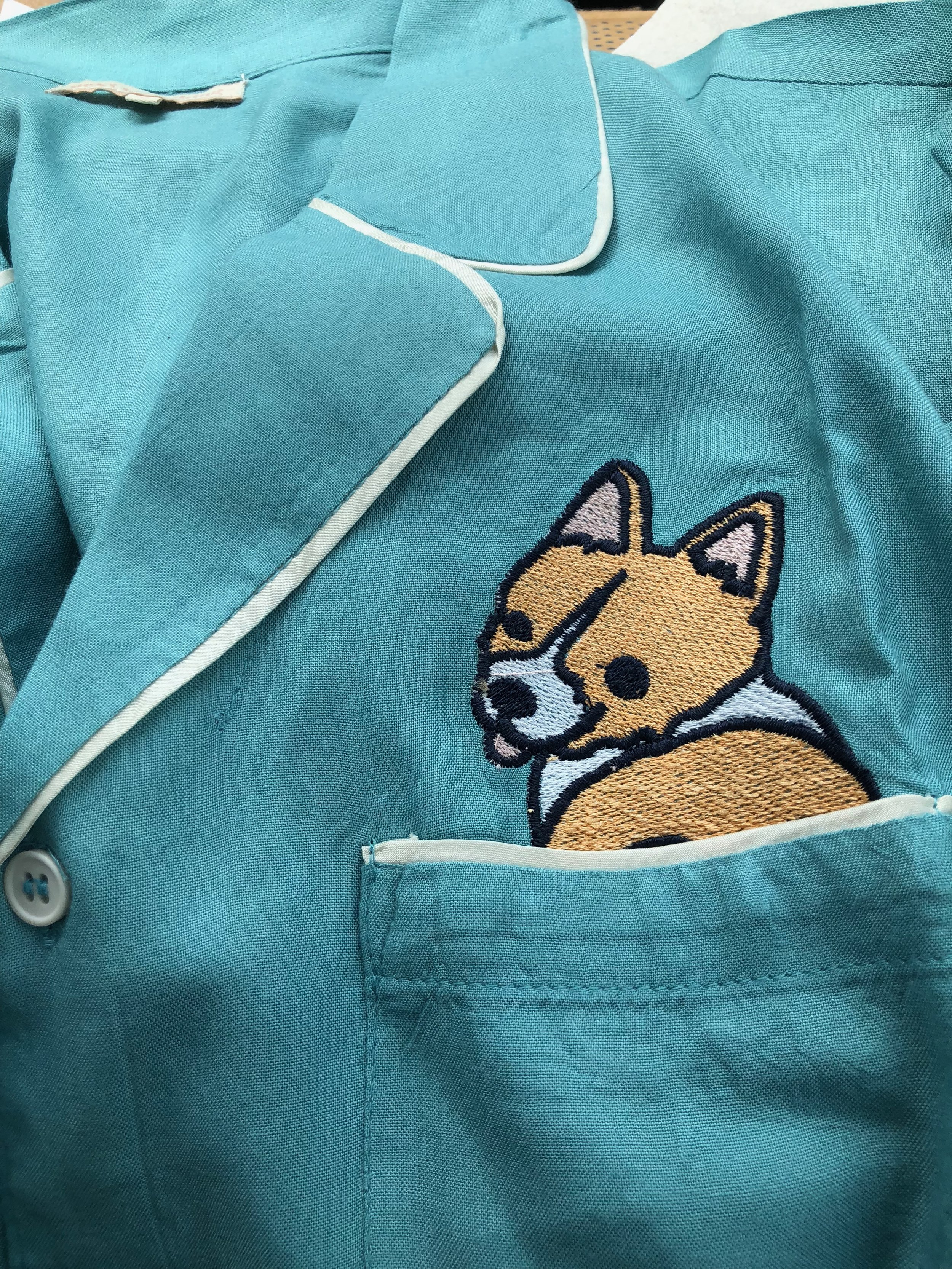 The corgi pajamas!