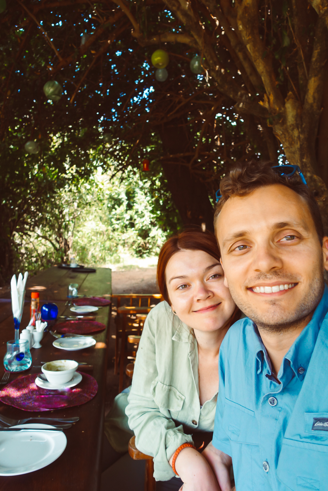 Right before our first lunch on safari in Kenya.