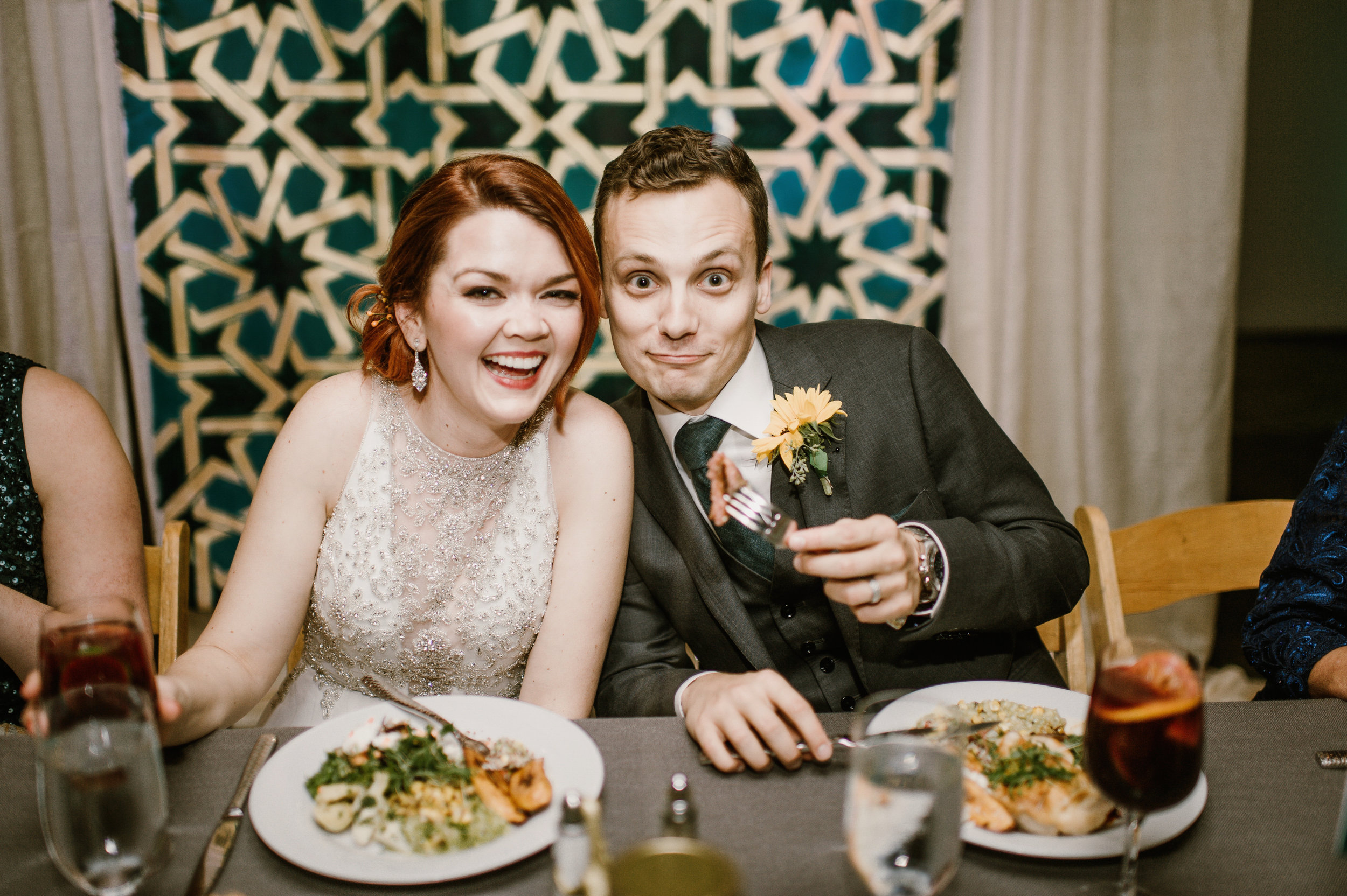 Our wedding day! Photo by Carly Bish.