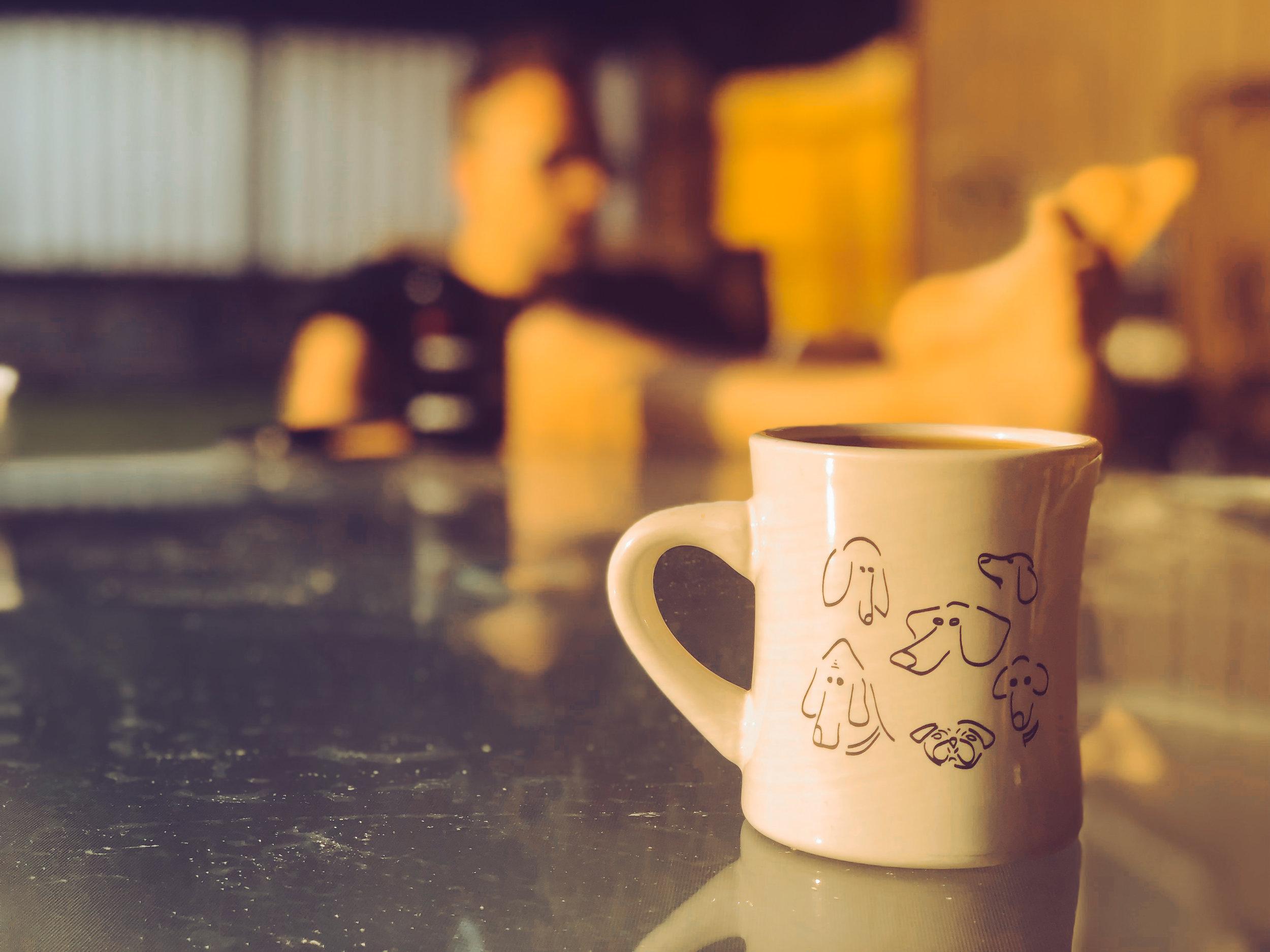 Enjoying the Eastern Washington sun and my favorite mug at my parent's house
