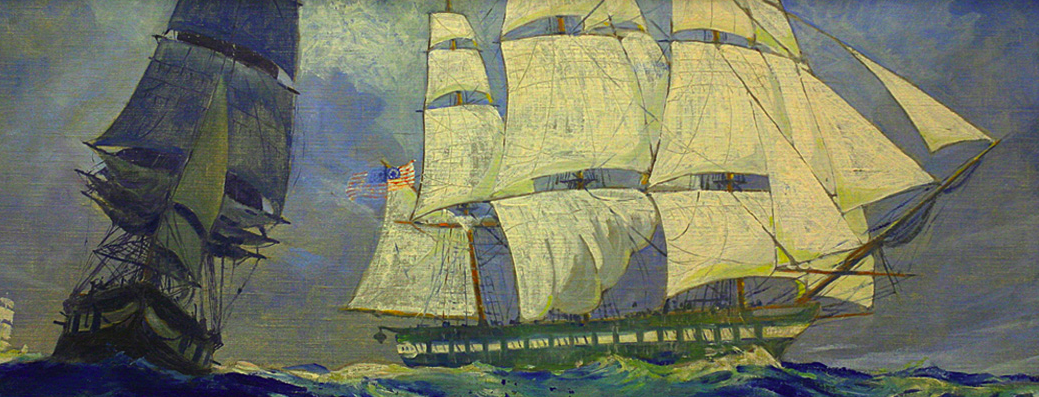 Ships Through the Ages East Boston Library Murals by Edward King