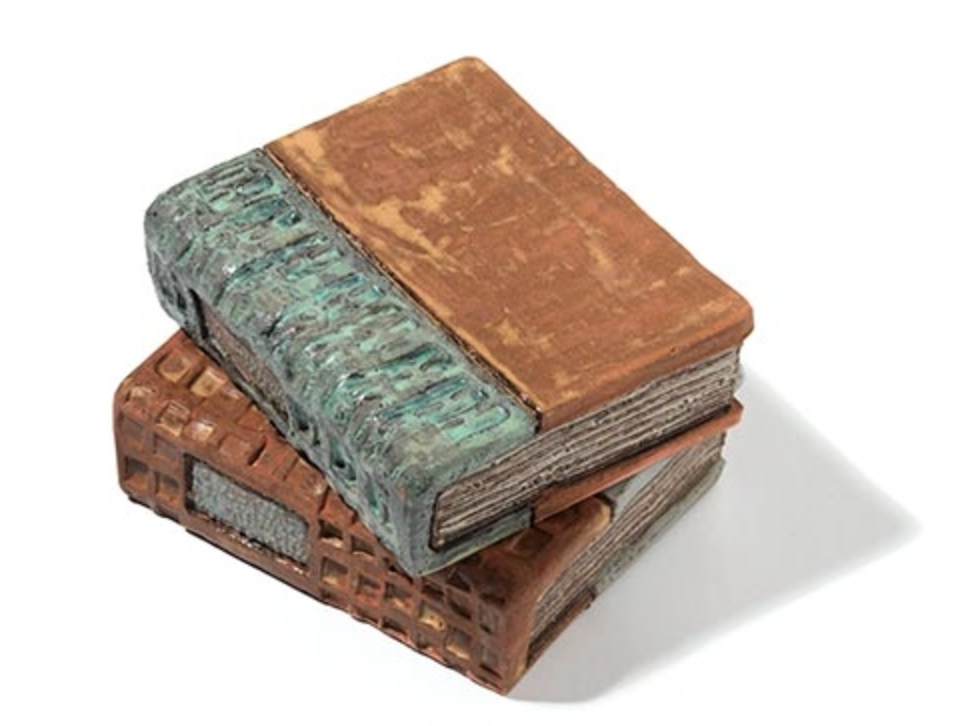 Ceramic books for artful decoration, by Lori Pease