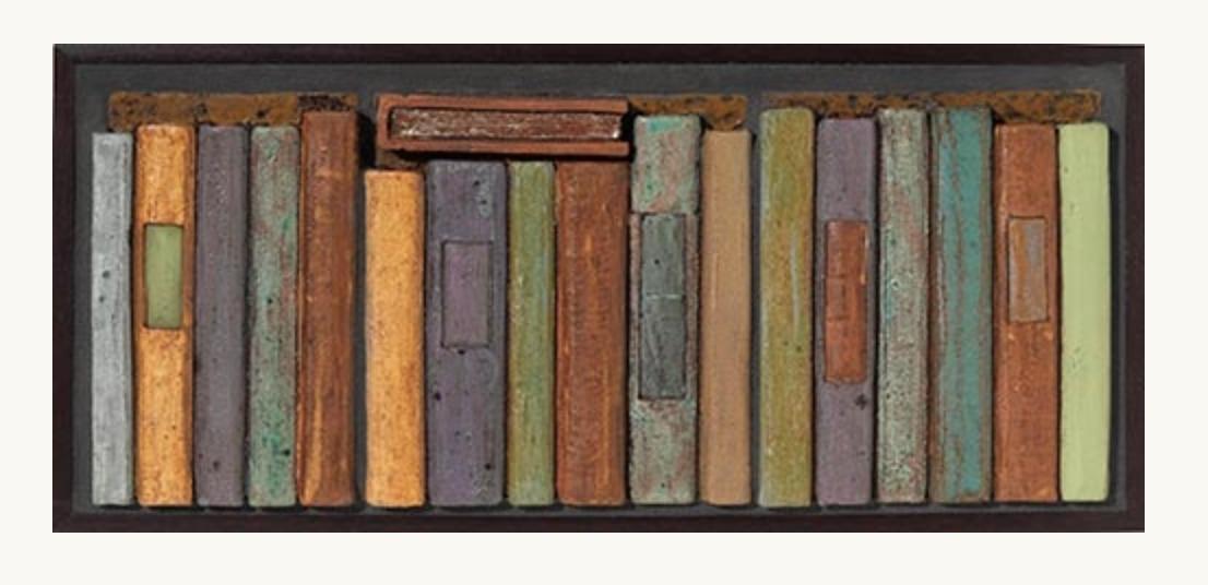 Lori Pease's earthenware book tile