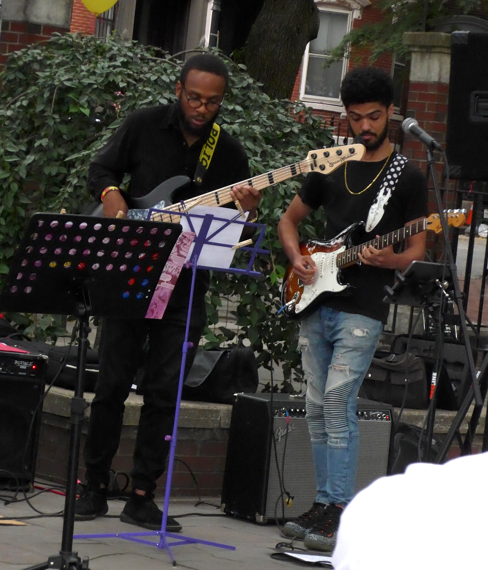 Christoffe Glaude, bass; and Antonio Loomis, guitar