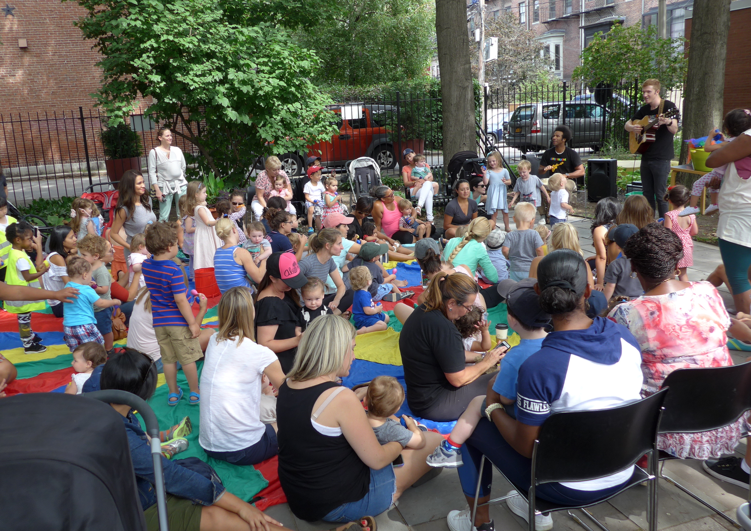The Friends support children's programming, some held in Library Park