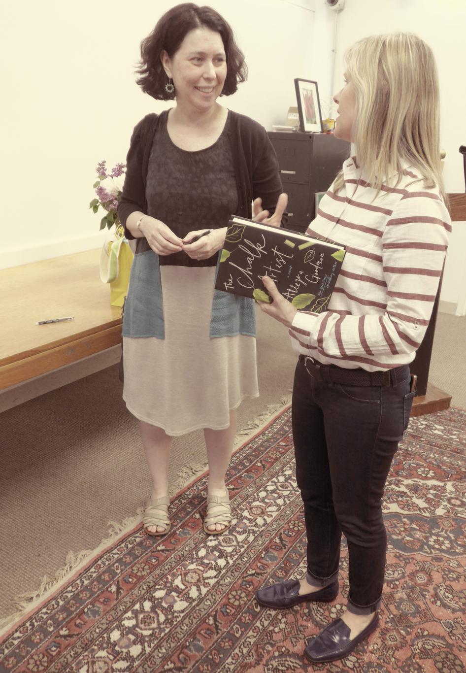 Author Allegra Goodman with FOSEL board member, Maura Harrington
