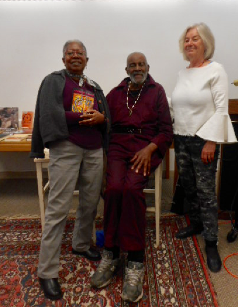 Pamela King and her father, Mel, with FOSEL host, Marleen Nienhuis