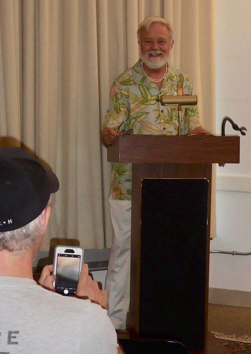 Iory Allison speaking about his life's work at the South End library in September