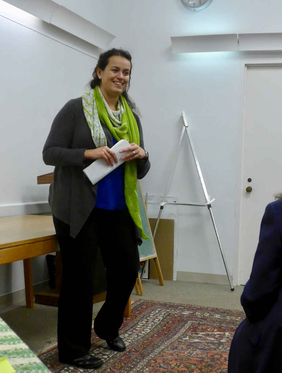 At-large City Councilor, Annissa Essaibi-George, a strong library and education supporter, introduced Jessica Keener to the South End library audience