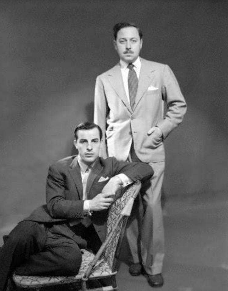 Playwright Tennessee Williams with Frank Merlo in the 1950s.