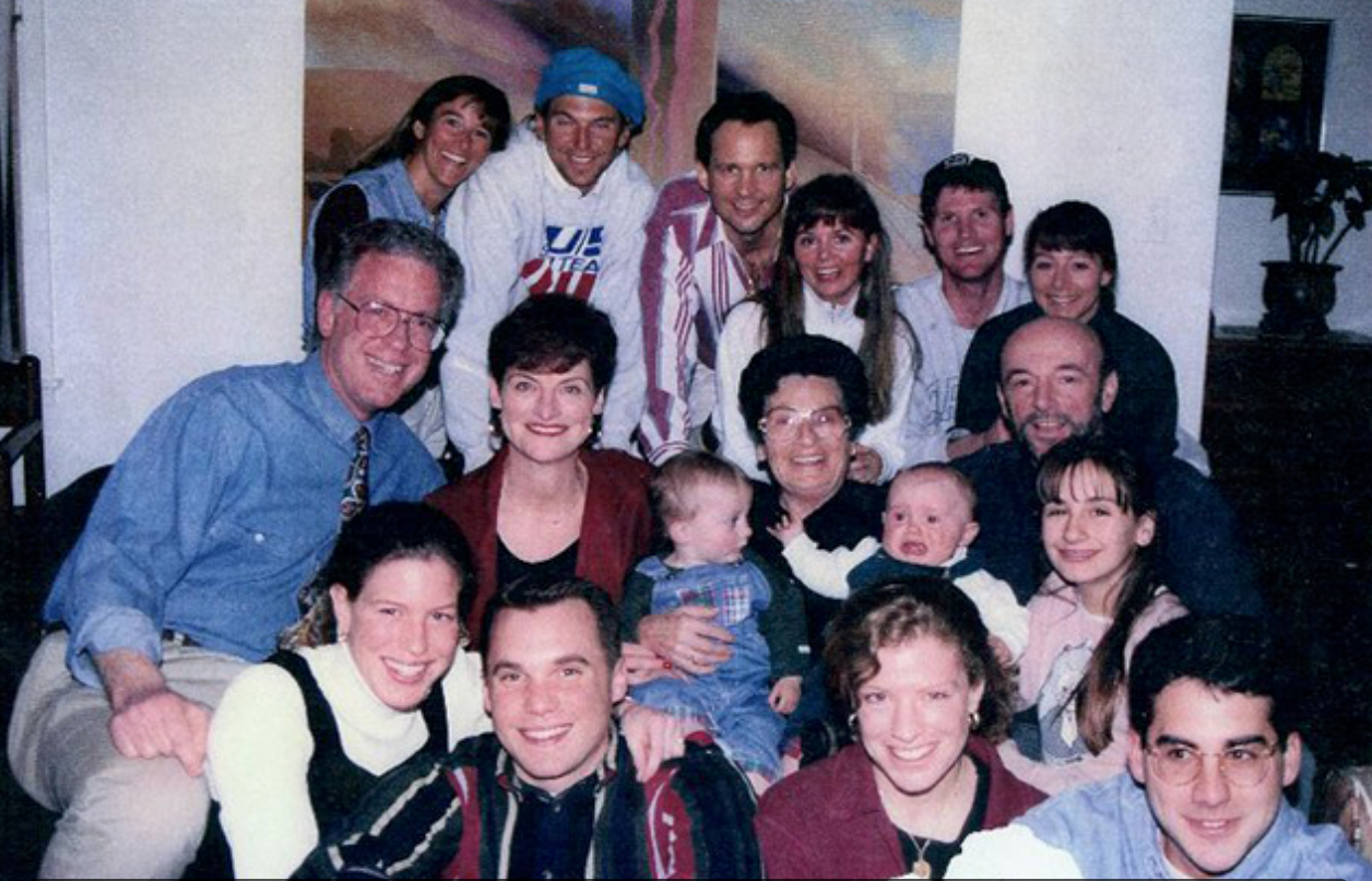 Harry Weichsel (on right, third row) surrounded by his family