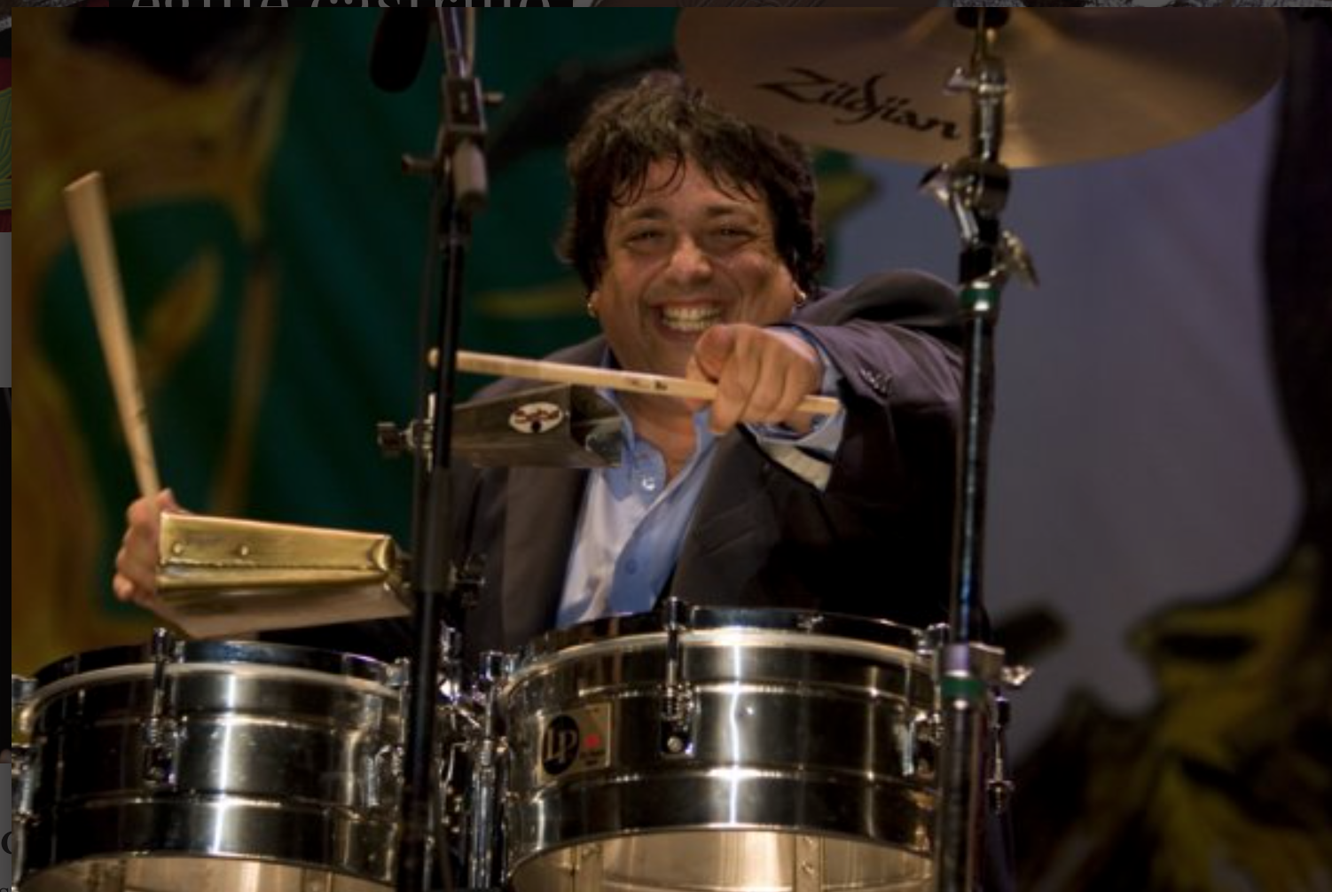 Percussionist Eguie Castrillo will be in Library Park on July 23.