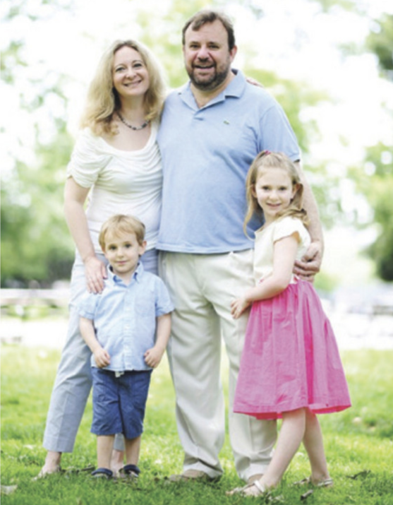 Caroline and her family