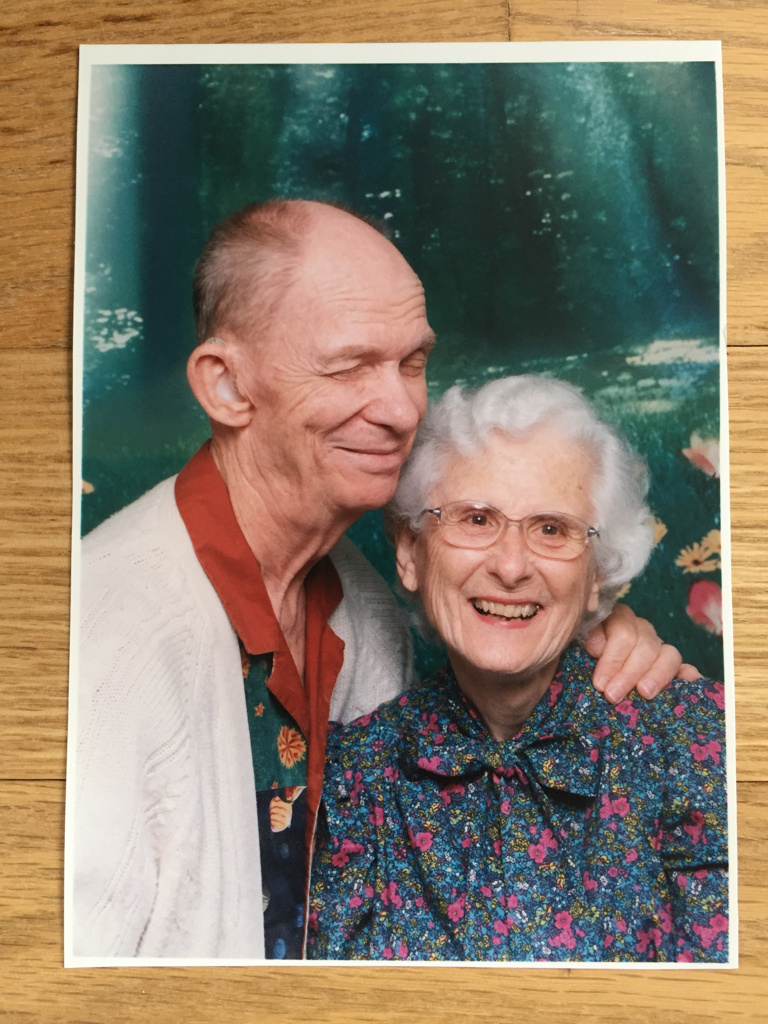 Barbara and her husband, Charles, who also has a hearing loss, in 2004.