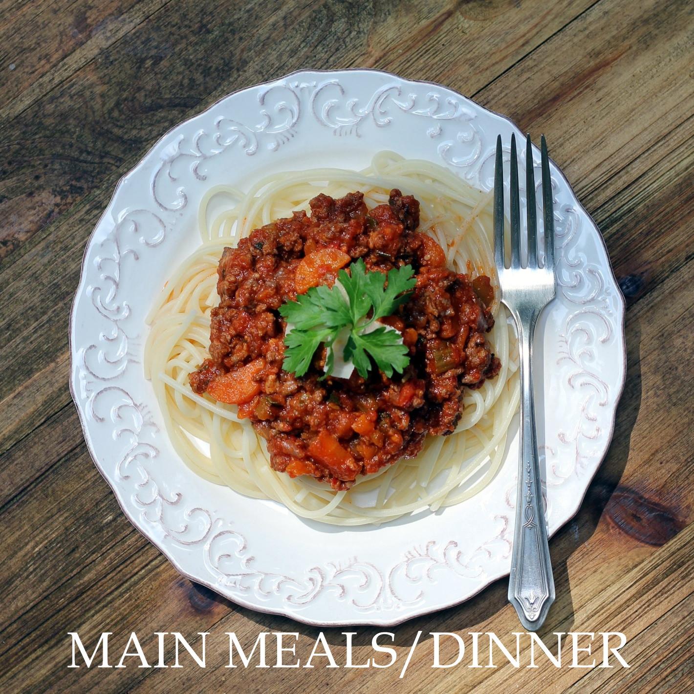MAIN MEALS/DINNER