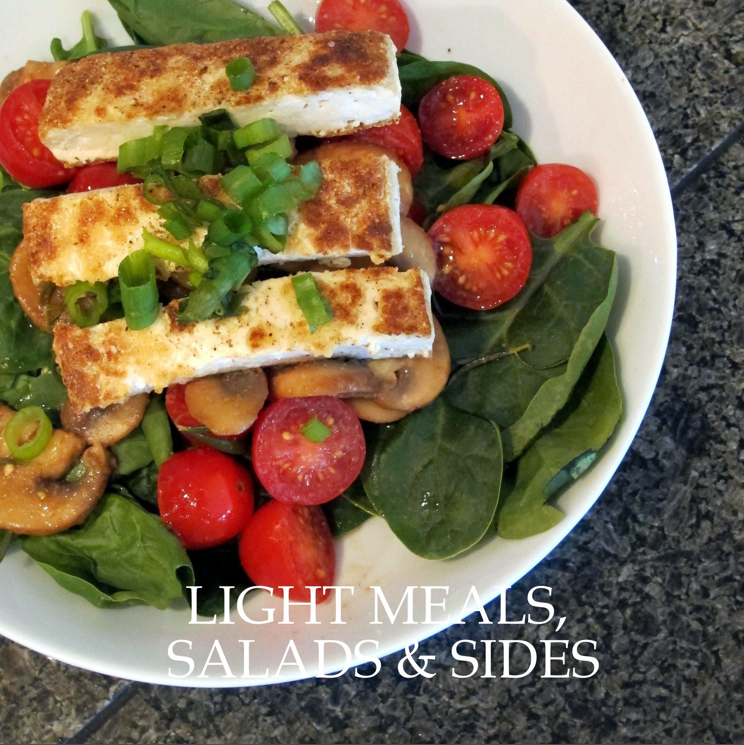 LIGHT MEALS, SALADS & SIDES