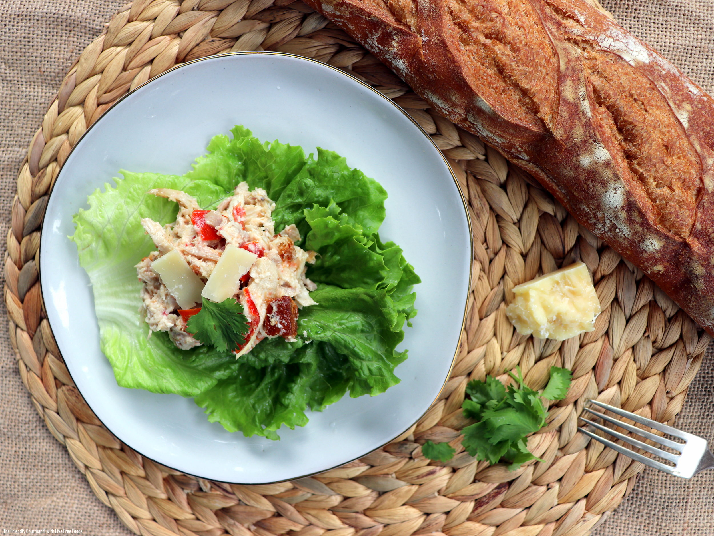 Chicken Caesar Salad Cups with Live Free Foods & The Friendly Gourmand - Low FODMAP Gluten Free