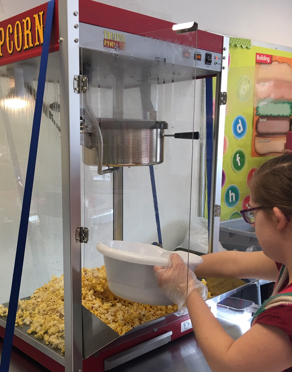 First day selling popcorn 4.9.19 student has clearance on file.jpg