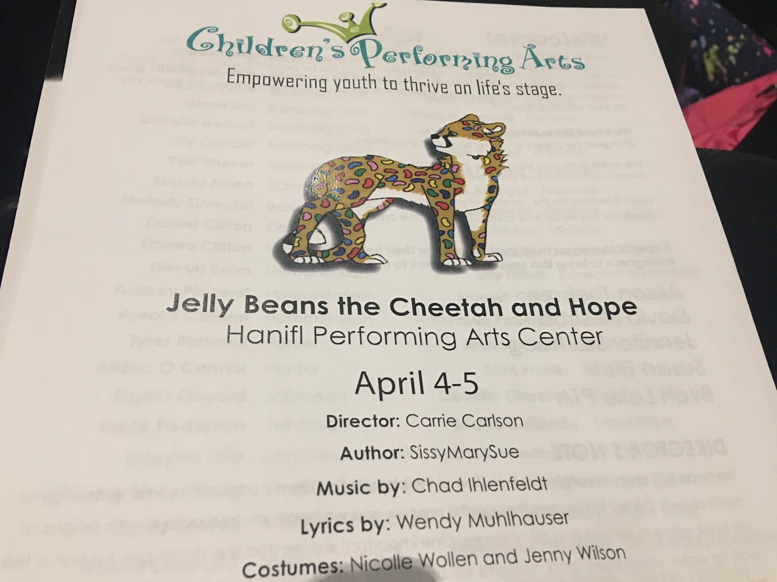 First Birch Lake play partnered with Children's Performing Arts Center April 4, 2019.JPG