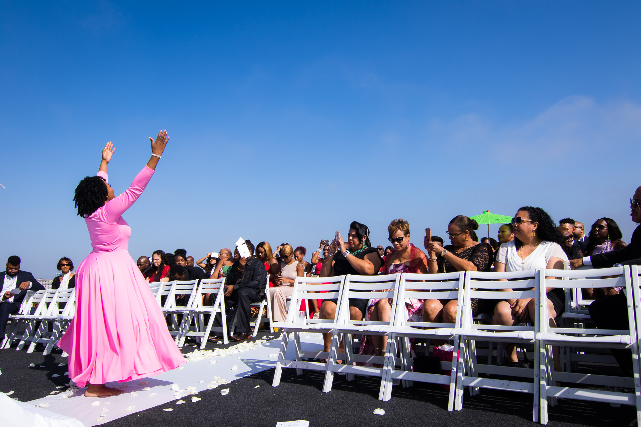 Minister Joanna Kanyali, Best friend, Bridesmaid Praise Dancing @ #GambrellsNY2LA