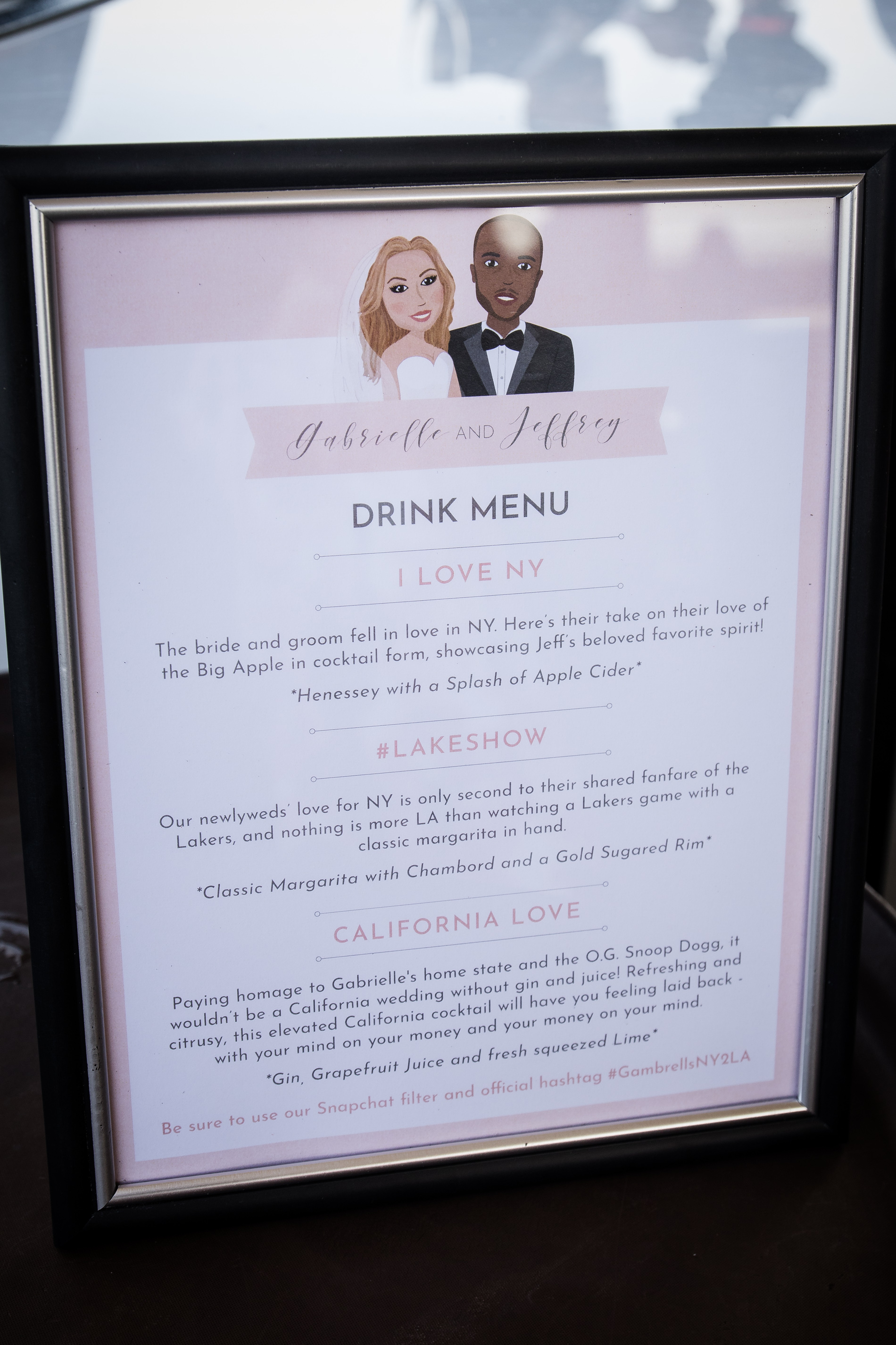 Our drink menu was a hit! Everyone said the drinks were so tasty! Thankful for my bridesmaid April Johnson, who owns  Happied , she made it happen!