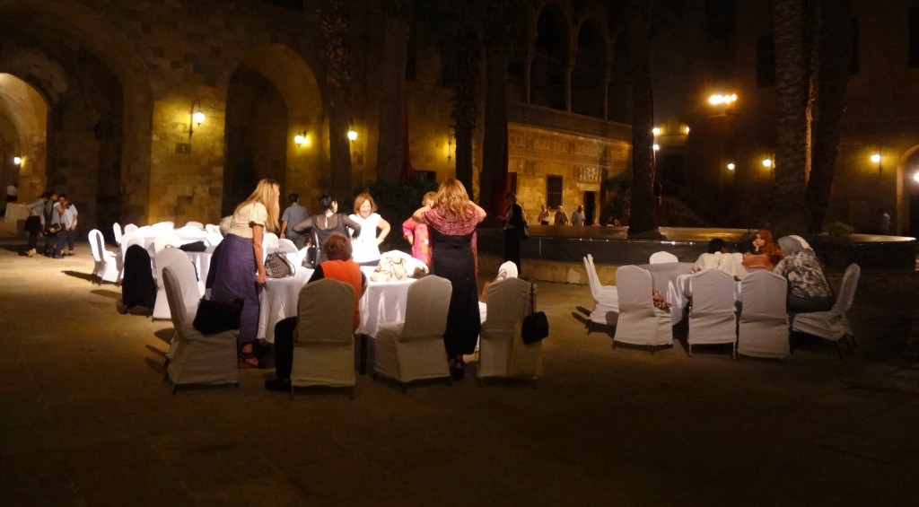 The conference participants having dinner at a Mamluk Palace functioning currently as a cultural center (Photo credit: Lucine Taminian, 2015)