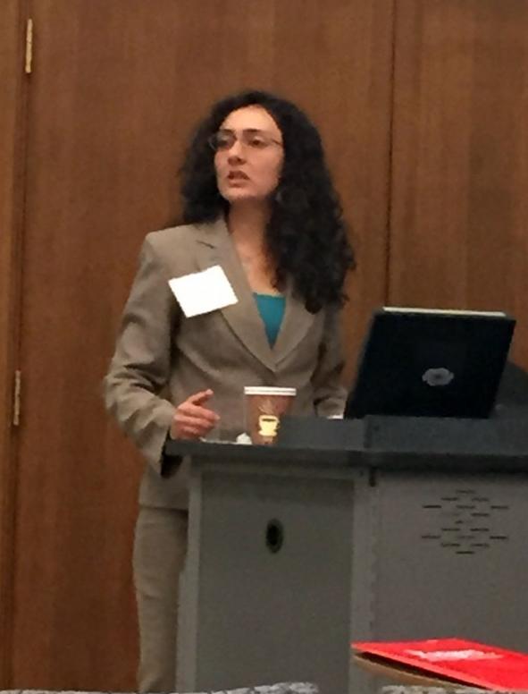 Dr. Yasmeen Hanoosh, conference co-organizer (Photo Credit: Alda Benjamen, 2015)