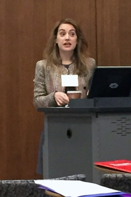 "Dr. Bridget Guarasci, ""Virtual Realities: The Wartime Labor of Eden in Iraq's Marshes"" (Photo Credit: Alda Benjamen, 2015)"