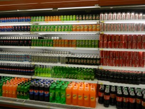 Soft drinks for sale at Carrefour hypermarket in Erbil (Photo credit: Beth Kangas, 2013)