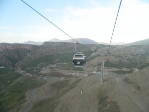 A gondola to the Korek Mountain Resort in Ruwanduz in the Shingilbana area of northern Iraq. The gondola was constructed in 2011 (Photo credit: Beth Kangas, 2013)