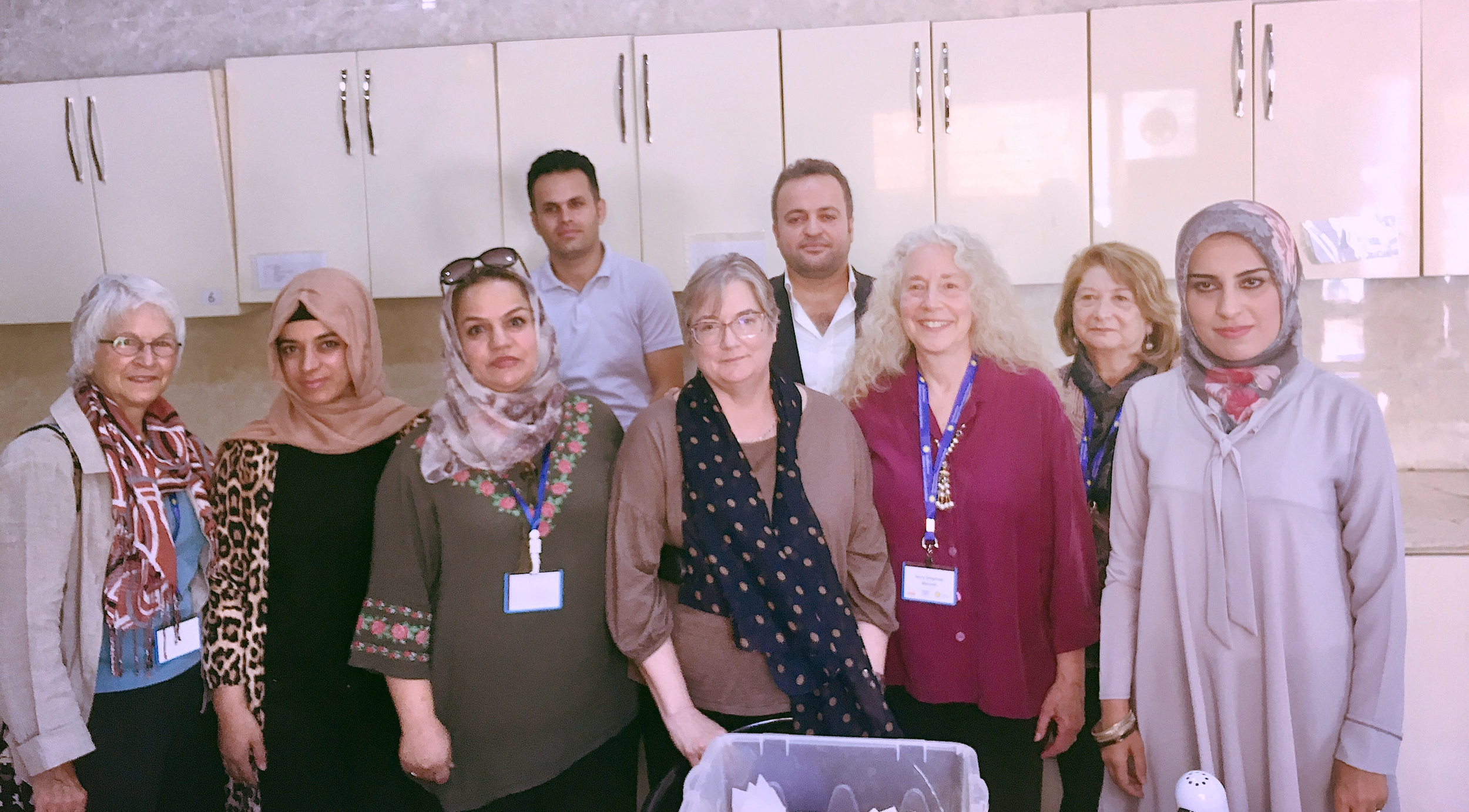 Museum conservators with their IICAH instructors/council members - Photo credit: TARII, 2018