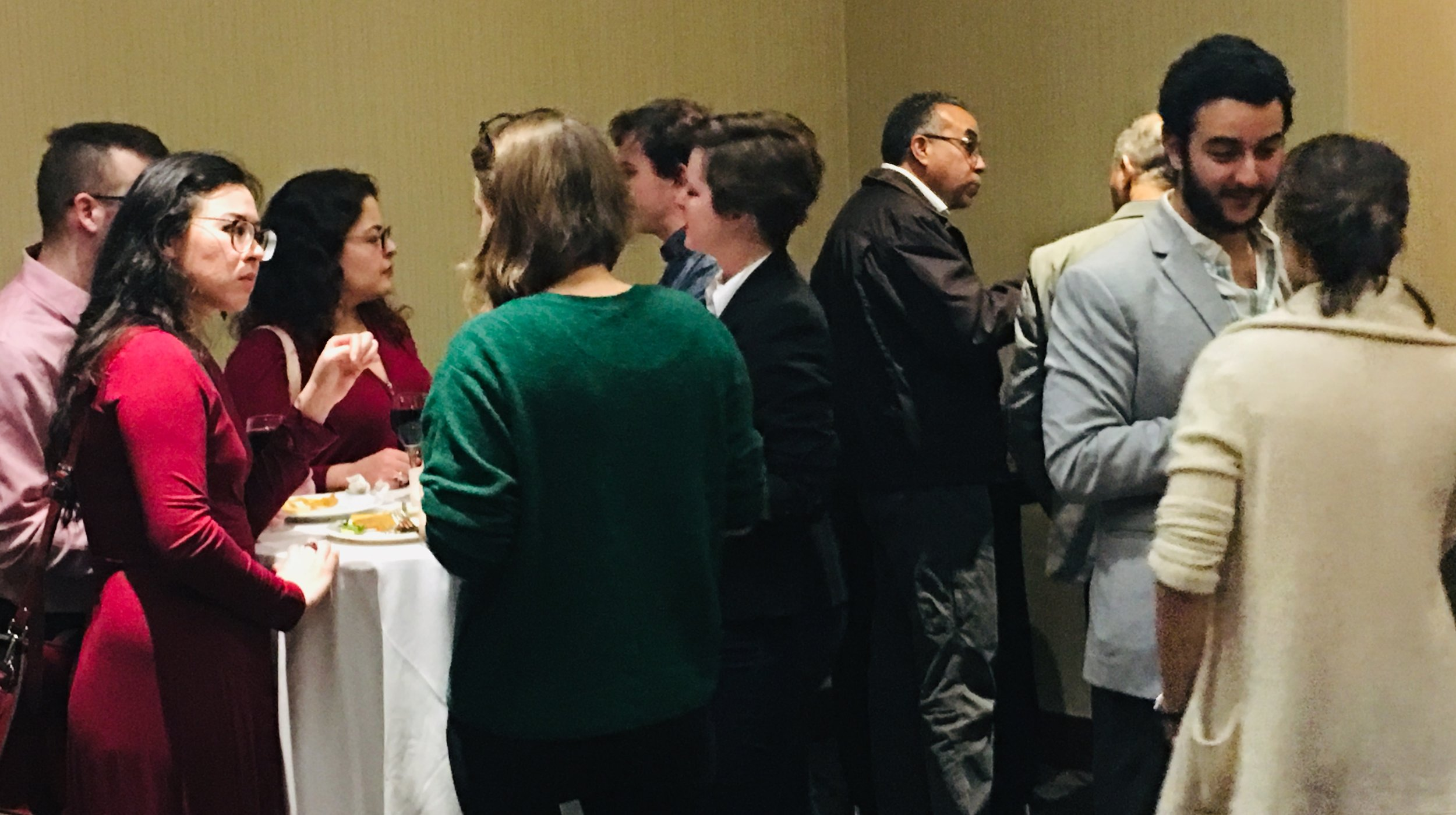 MESA attendees gather at the TARII reception and make new friends! Photo credit: TARII, 2018