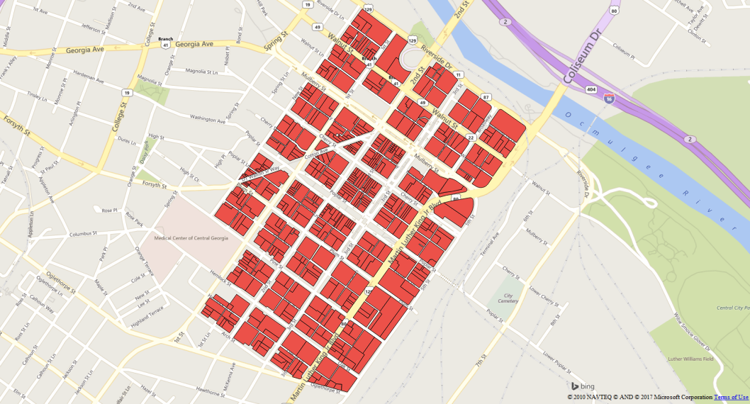 Map of Downtown Property Parcels