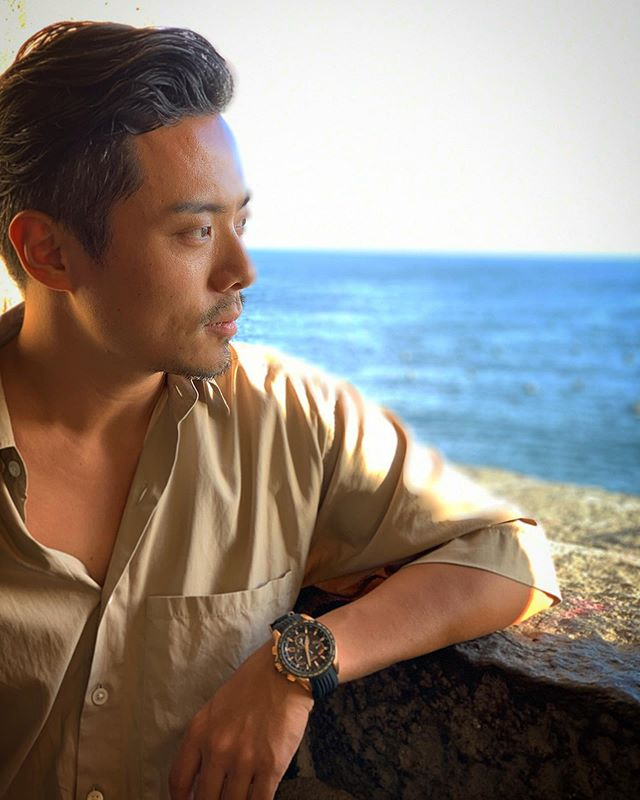 @auralee_tokyo shirts and #seikoastron a gift from @summerjazzcamp have been my favorite travel partner in summer💥🙇‍♂️💥 Europe✈️NYC✈️Off to Singapore 🇸🇬 ✈️➡️➡️➡️ 📸: @sopnao