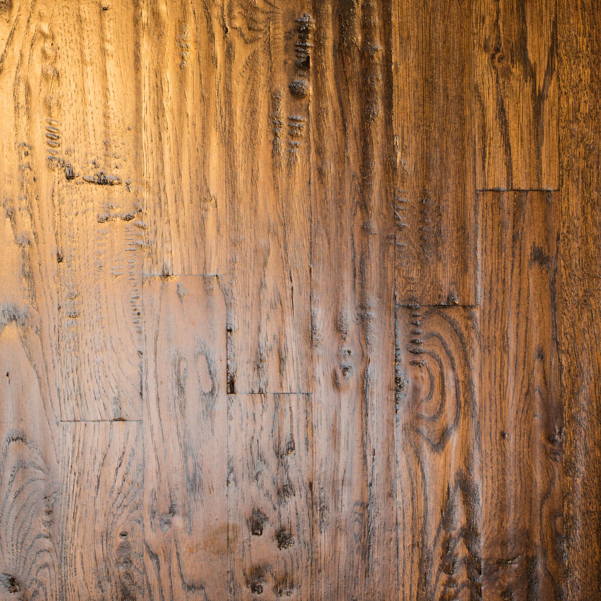 White Oak 2 1/4 #3 Hand-scraped Jacobean Masterline