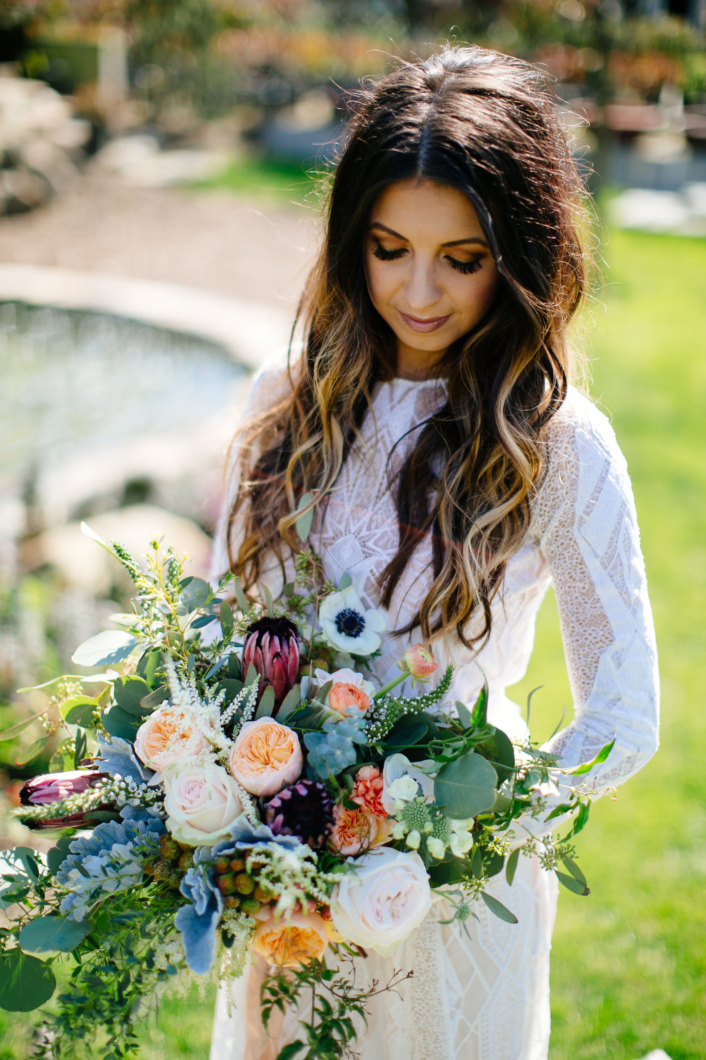 I mean, these flowers! Come ON! The model looks pretty darn good too.