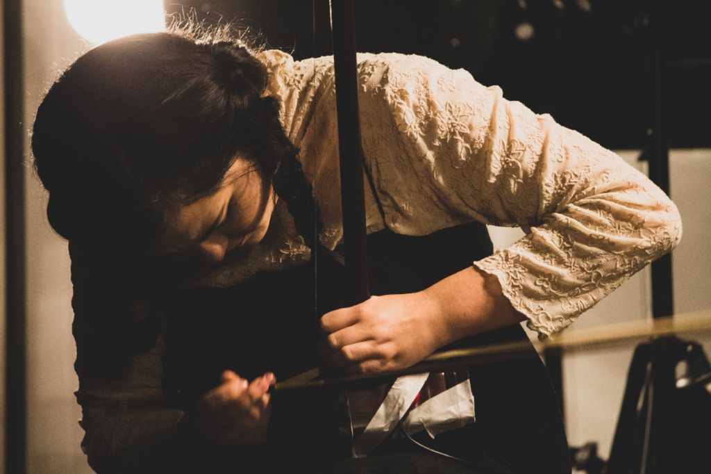 Australian composer and erhu player Jasmin Leung. Photo by  Caleb Colledge .