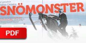 """TEKNIKENS VÄRLD - 2012    """"Snömonster"""""""