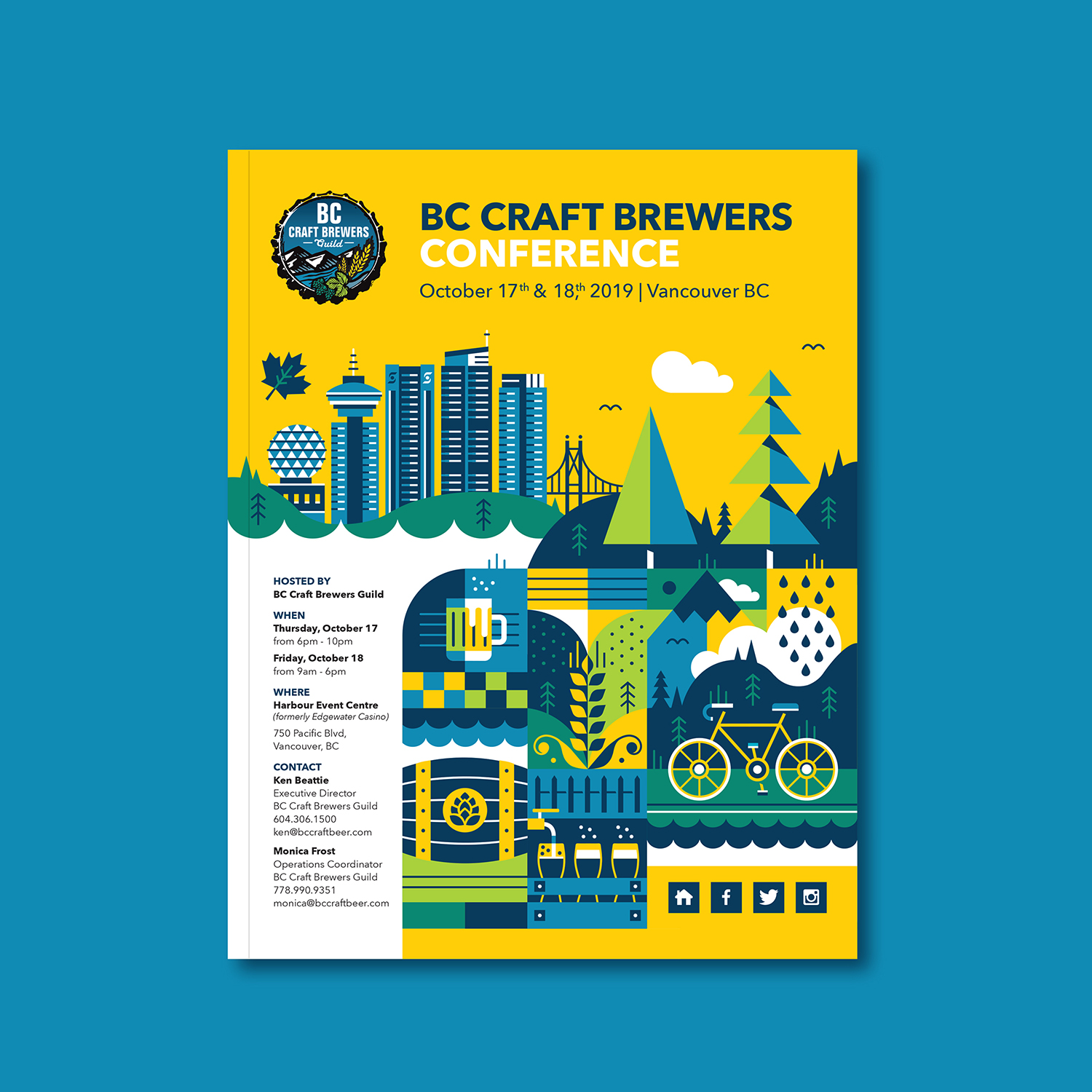 BC Craft Brewers Conference - MARKETING COLLATERAL + ILLUSTRATION + DIGITAL ASSETS