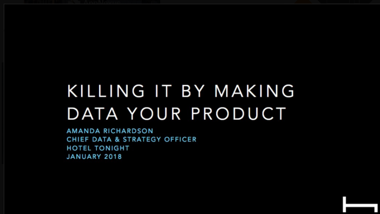Amanda Richardson: Making Data Your Product
